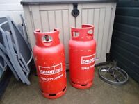 Propane Gas Bottles and changoever unit