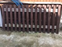 4 Garden Fence , Complete and assembled , used for short time ,, Treated & Painted