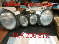 MERCEDES 208 SERIES HEAD LAMP £35[PAIR £60] DISMANTLED MOST MODELS WORLDWIDESHIPPING PL RING/EMAIL