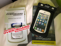 Overboard waterproof phone case black & blue available