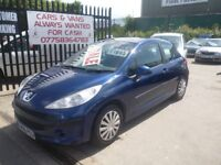 Peugeot 207,1398 cc 3 door hatchback,clean inside and out,runs and drives very well