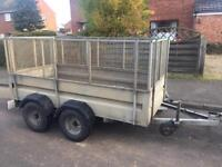 Page 8x4 twin axle trailer + mesh/ramp/cover/spare wheel