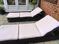 Garden chairs lounger