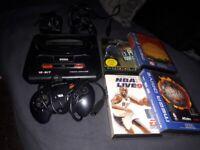 Sega Megadrive II with games