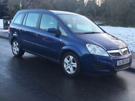 **** VAUXHALL ZAFIRA 1.6 EXCLUSIVE 2008 58 REG TWO OWNER MILEAGE 90000 MOT DEC 2018 P/X WELCOME ****