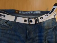 Men's crosshatch jeans