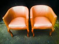 Vintage Leather Tub chairs