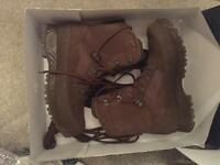 Haix military issue brown army boots size 8