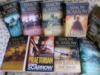 Collection of Books by Simon Scarrow, exc. cond.