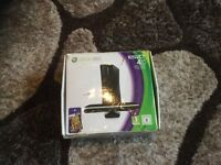 XBOX 360 with Kinect and two games in original box with all original leads