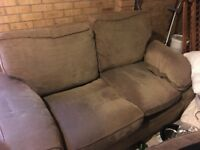 2x sofas and leg rest