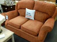 Great suite in terracotta fabric