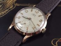 vintage 9k 9ct solid gold Avia mens watch (Christmas)