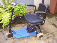 Shoprider Altea mobility scooter - portable, easy to dismantle to fit into car boot