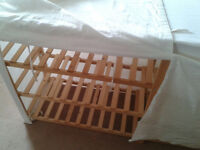 3 shelf wooden storage rack with canvas cover - Used - Cardiff