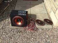 Edge boom box and speakers