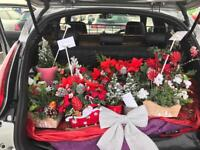 Christmas Table or Grave displays