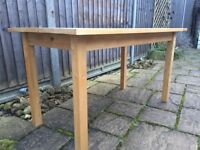 IKEA dining table and chairs, wooden, good condition. Available separately