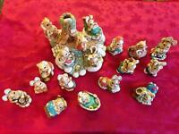 Woodlander collectible hand painted rabbit figures