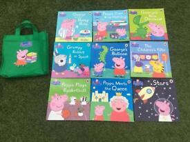 Peppa pig book set in bag