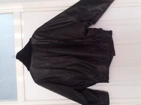 Ladies Leather Jacket - Black