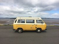 4 Berth 1980s T25 VW Camper van, MOT till June 17, £4775 ono, good runner