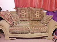 Great Bargain! 2+3 comfy seater fabric sofa for grab with extra cushions to cuddle!