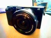 Sony A6000 Mirrorless Camera + 16-50mm Lens (Black)