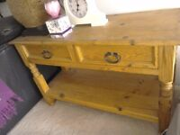 Bargain. Solid wooden mexican pine Console Table