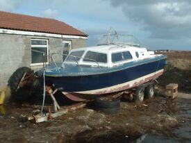 Norman 22ft Cabin Cruiser/Fishing /Pleasure boat,.