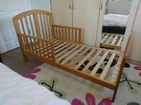 Good condition toddler bed & mattress from smoke free family with duvet and covers and fitted sheets