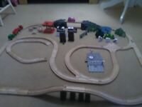 Wooden train set Brio compatable