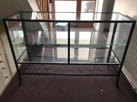 Large Side/Console Table TV Stand - 4 Tier Glass