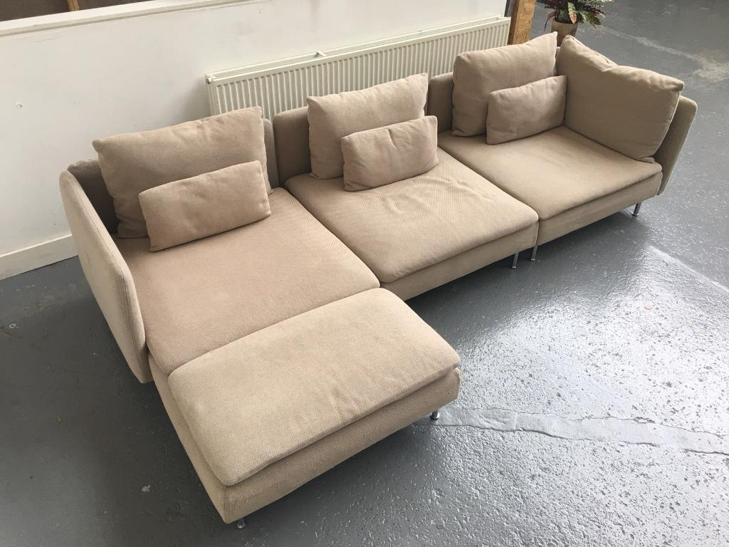 Ikea soderhamn sofa chaise longue single seat corner for Ikea corner sofa