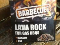 Lava rock for gas barbeque - 6kg two new 3kg boxes