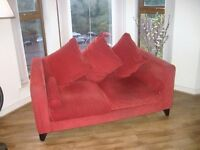 Red 2 Seater Sofa for Sale £50 ono.