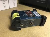 Samson S-Direct DI Box PA S Direct Studio Live Sound D.I Direct Input Balanced 9v Battery Phantom