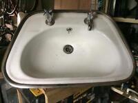 2No Retro Style Sinks With Original Taps