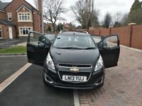 Chevrolet Spark 2013 black 1.2 petrol 5 doors Hatchback