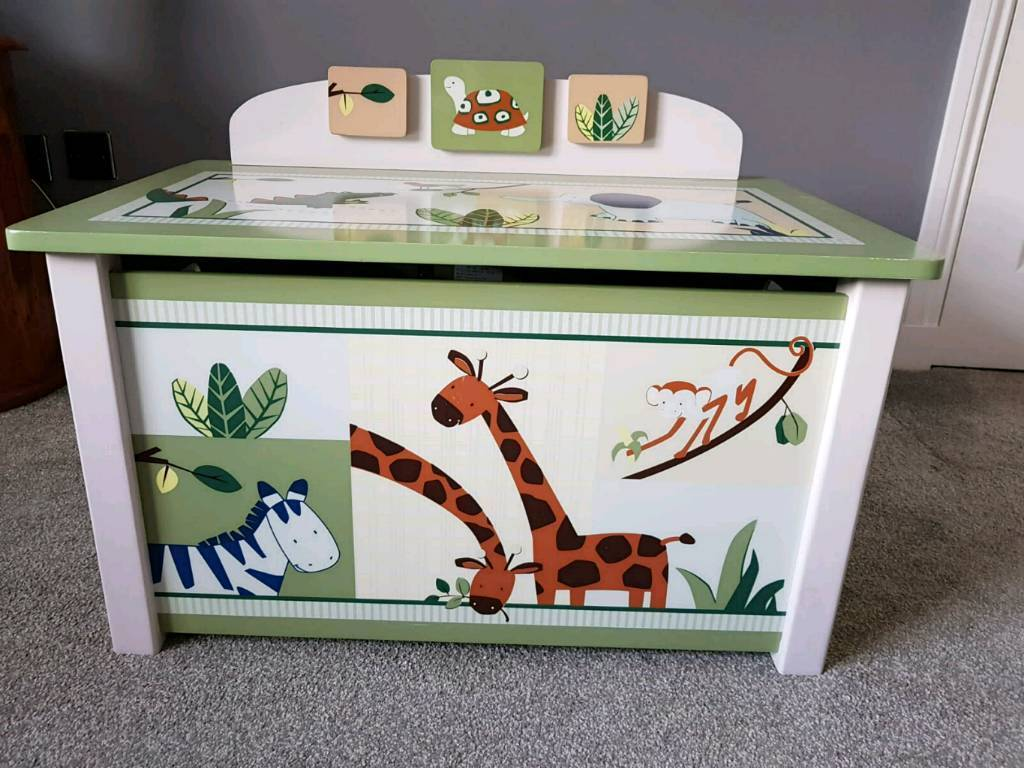 jungle themed wooden toy box | in stenhousemuir, falkirk | gumtree