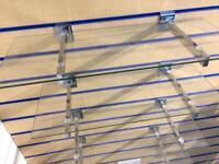Slat Wall Glass Shelving & Hanger Shelf / Storage