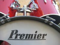 Drums - Premier Drum Kit in Red - Optional Snare and Hardware