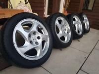 """Honda Prelude 16"""" JDM Fan Blade Alloy Wheels & Tyres - 5X114.3 - 205/50/R16"""