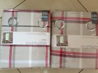 Fully lined eyelet curtains from Next (2 pairs) - brand new in packaging