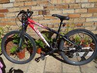 "Coyote Red Boys Mountain Bike 14"" frame 26"" wheels 21 gears"