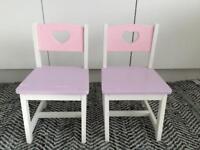 Wooden Children's Chairs x 2