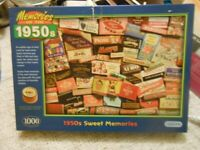 1000 Piece Jigsaw - 1950s Sweets - - £3 - - -