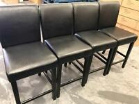 4 x Tuscany bar stools in black, brand new.