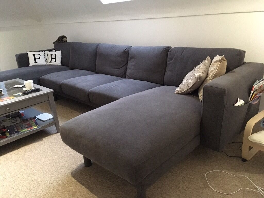 Ikea norsborg 3 seat sofa with 2 chaise longues in for 2 seater sofa with chaise