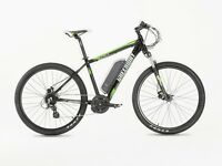 new! GREENWAY ELECTRIC mountain bike, PANASONIC cell lithium battery LCD, PAS system £840